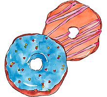 Donuts #FOOD  Photographic Print