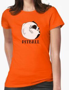 A Tiny Big Dog - Love for Pitballs.  Womens Fitted T-Shirt