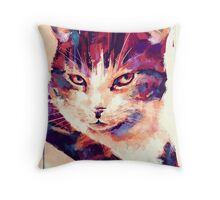 Isis the Kitten Throw Pillow