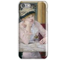 Edouard Manet - Plum Brandy  1877 , French Impressionism  iPhone Case/Skin