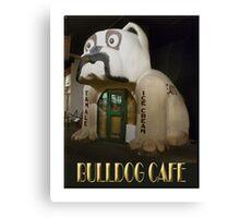 Bulldog Cafe Canvas Print