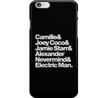 Prince Aliases Joey Coco & Jamie Starr Threads iPhone Case/Skin