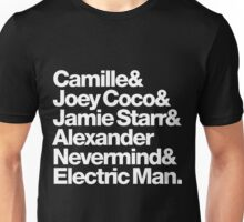Prince Aliases Joey Coco & Jamie Starr Threads Unisex T-Shirt