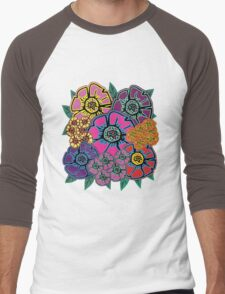 Abstract #408 Flower Power #10 Men's Baseball ¾ T-Shirt