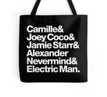 Prince Aliases Joey Coco & Jamie Starr Threads Tote Bag