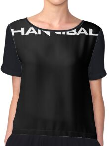 Hannibal logo in white Chiffon Top