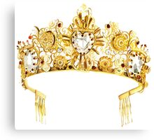 D&G {Crown} Canvas Print