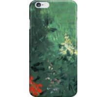 Edouard Manet - Boy in Flowers Jacques Hoschede 1876 iPhone Case/Skin