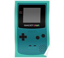 Game Boy Teal Poster
