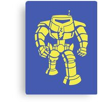 Manbot - Plain Blue Colour Variant Canvas Print
