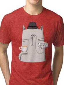 English Cat Tri-blend T-Shirt