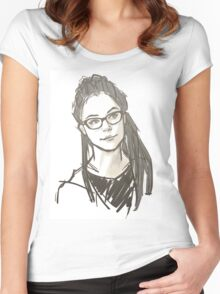 Drawing of Cosima Women's Fitted Scoop T-Shirt