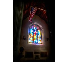The Crusaders with The Stars and Stripes Photographic Print