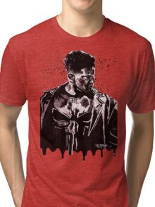 Punisher Ink Splatter Tri-blend T-Shirt