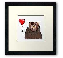 Bearing with me Framed Print