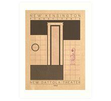New Dattola Theater - 1942 (Purple) Art Print