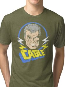 Cable • X-Men Animated Cartoon Tri-blend T-Shirt