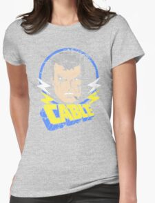 Cable • X-Men Animated Cartoon Womens Fitted T-Shirt