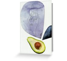 An older, more disgusting avocado Greeting Card