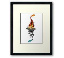 Dark Souls Fire estus Framed Print