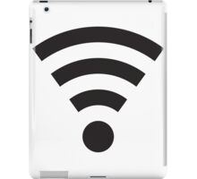 Simple WiFi Logo - Black iPad Case/Skin