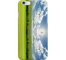 RICK AND MORTY SCREAMING SUN LANDSCAPE iPhone Case/Skin