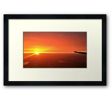 Sunset climb out Framed Print