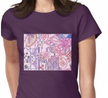 new york city tangle with flower Womens Fitted T-Shirt