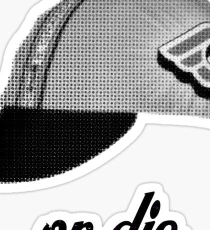 fixie ride or die Sticker