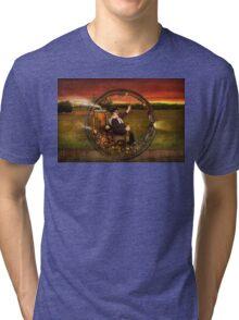 Steampunk - The gentleman's monowheel Tri-blend T-Shirt