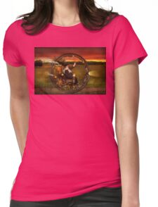 Steampunk - The gentleman's monowheel Womens Fitted T-Shirt