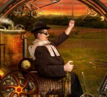 Steampunk - The gentleman's monowheel Sticker