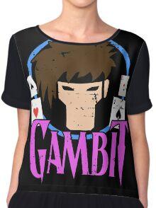 Gambit •X-Men Animated Cartoon Chiffon Top