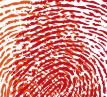 red fingerprint heart Sticker