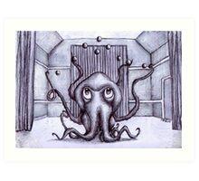 An Octopus Juggling Art Print