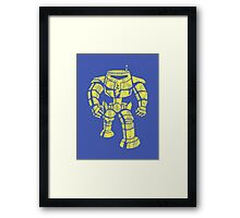 Manbot - Distressed Variant Framed Print