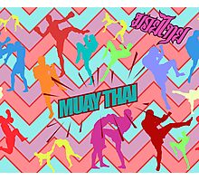 muay thai boxing pattern sign board thailand martial art Photographic Print