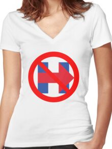 I'm Not Ready For Hillary Women's Fitted V-Neck T-Shirt
