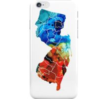 New Jersey - State Map By Sharon Cummings iPhone Case/Skin