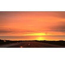 Sunset runway Photographic Print