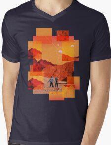 Mars Holidays Mens V-Neck T-Shirt