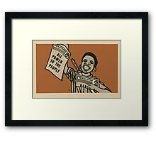 All Power to the People Framed Print