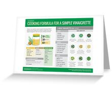 Cook Smarts' Simple Vinaigrette Cooking Formula Greeting Card
