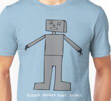 Scissor Handed Robot Barber Unisex T-Shirt
