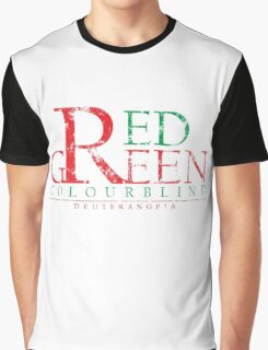 Colourblind - Red Green (Worn) Graphic T-Shirt