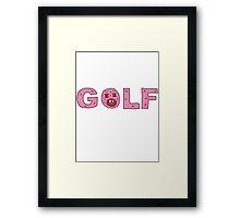 GOLF WANG Framed Print