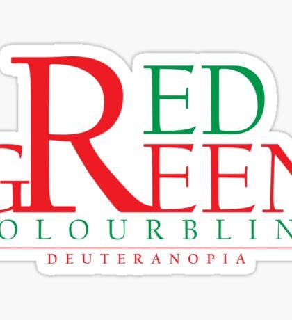 Colourblind - Red Green Sticker