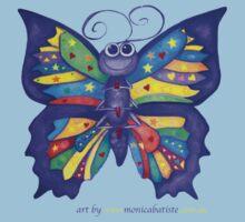 Yoga Butterfly; Namaste  One Piece - Short Sleeve