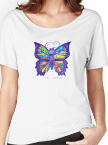 Yoga Butterfly; Namaste  Women's Relaxed Fit T-Shirt