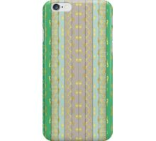 Stripes, Geometric, Tribal Inspired, Green, Gold, Brown iPhone Case/Skin